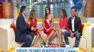 Entrevista Miss Colombia 2015 Ariadna Gutierrez en Un Nuevo Dia de Telemundo HD