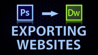 How to export a website from photoshop to dreamweaver