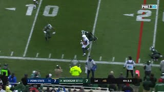 Blacknall Gets TD on 4th and 8 vs. Michigan State