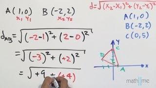 Distancia entre 2 puntos│triángulo isósceles