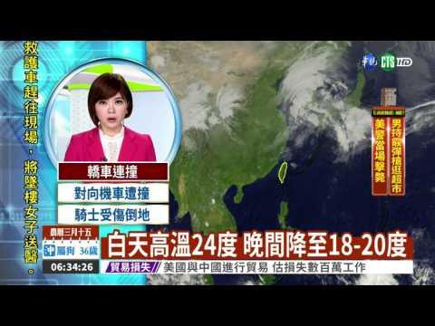 鋒面接近 北台灣先轉陣雨或雷雨