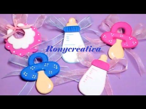 Hermosos distintivos para BABY SHOWER Babyshower souvenirs DIY