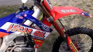 TroyLee/Lucas Oil Honda CRF250 2014 Walkaround and Sound Test