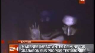 video de los mineros dentro de la mina grabado por ellos mismos