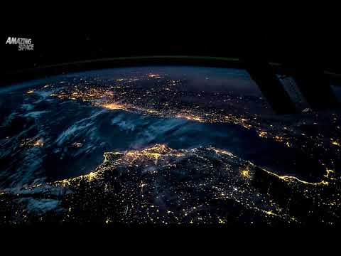 Xxx Mp4 Earth From Space ISS Time Lapse Video From Spain To Poland At Night 3gp Sex