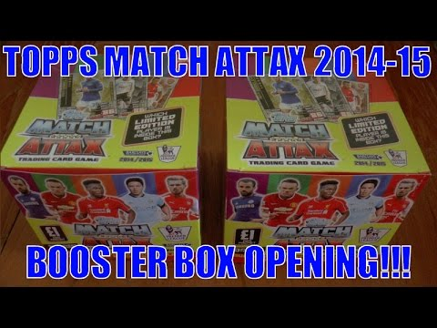 YouTube PREMIERE ☆ UNBOXING BOOSTER BOX 500 CARDS ☆ topps MATCH ATTAX 2014 15 Trading Cards