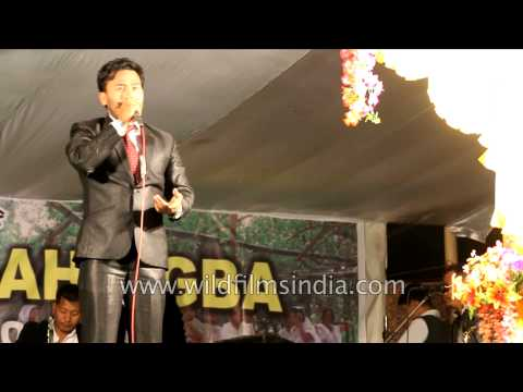 Bonyam and Soma - Manipuri film actors take part in Yaoshang festival celebration