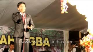 Bonyam and Soma - Manipuri film actors take part in Yaoshang festival celebration
