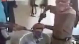 Senas fortes homem sendo executado