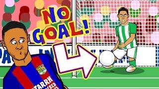 NO GOAL! Real Betis vs Barcelona - did the ball cross the line? LA LIGA CONSPIRACY?!