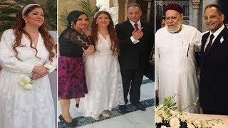 عقد قران الإعلامية رولا خرسا وحسن خليفة المدير الإداري بشركة منصور شيفورلية بحضور الدكتور علي جمعة