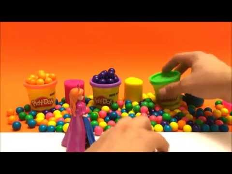 Play Doh Game - Princess Anna Frozen Learn Colors For Kids