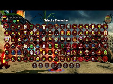 The LEGO Ninjago Movie Videogame - All 101 Characters Unlocked (Character Grid)