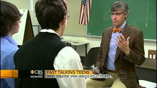 Fast talking teens debate foreign policy at warp speed   CBS News