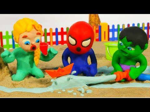 Xxx Mp4 SUPERHERO BABIES PLAY WITH WATER ❤ Spiderman Hulk Frozen Play Doh Cartoons For Kids 3gp Sex