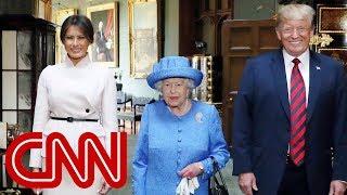 Queen Elizabeth II welcomes Trump to Windsor Castle