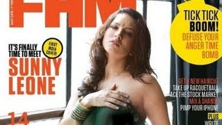 Sunny Leone Poses Topless For FHM Magazine