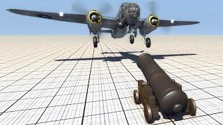 Cannon Shooting At Planes - BeamNG.drive