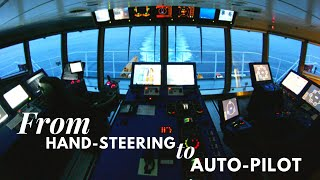 Life At Sea | How to switch from Hand Steering  to Auto PIlot Mode | HD