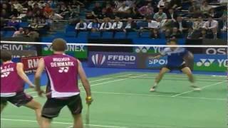 SF - MD - M. Boe/C. Mogensen vs Jung Jae Sung/Lee Yong Dae - Yonex Badminton French Open 2011