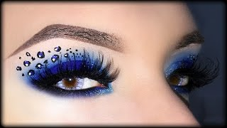 Sexy Blue Smoky Eyes with Leopard Print - Halloween Makeup Tutorial