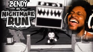 NEW BENDY RUNS GAME IS CRAZY!   Bendy In Nightmare Run
