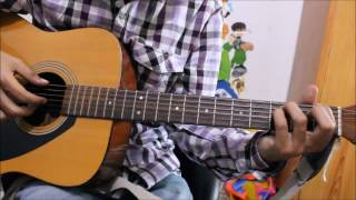 Chahun Main Ya Na - Guitar Cover Lesson Chords Intro Full Easy version
