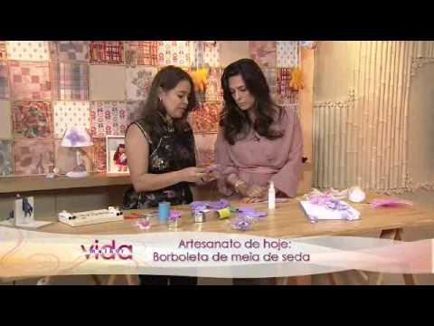 Vida Melhor Artesanato Borboleta de meia de seda Renata Herculano