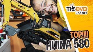 FUI TAXADO EM MAIS DE R$1000!!! ESCAVADEIRA FULL METAL HUINA 580 TOP EXCAVATOR UNBOXING