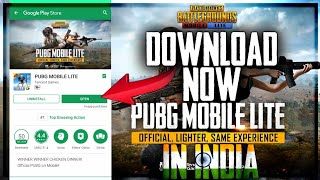 HOW TO DOWNLOAD/INSTALL PUBG MOBILE LITE IN INDIA! PUBG MOBILE LITE•FUTURE GAMING