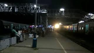 Three EMU local trains on the platform at krishnanagar city junction night..... #ayeetra