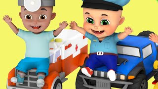 Car Wash Video for kids - Kids Toys - Police Cars Washing Garage - Unboxing Toys from jugnu kids