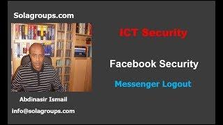 FaceBook Security Messenger logout!