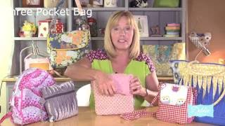 A three pocket bag for you to sew! by Debbie Shore