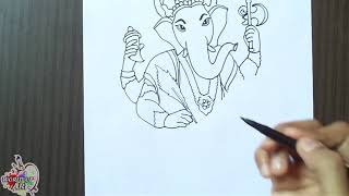 How to Draw Ganesha | Step by Step for beginners | Drawing Ganesh