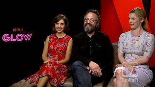 Glow | Alison Brie, Betty Gilpin and Marc Maron Interview for their Netflix Show