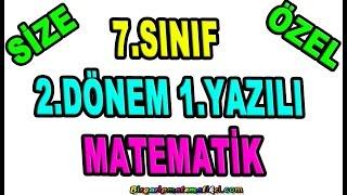 7.Sınıf Matematik 2.Dönem 1.Yazılıya Hazırlık / Size Özel Sorular