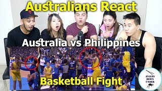 Huge Basketball Fight Breaks Out Between Australia And Philippines   Reaction - Australian Asians