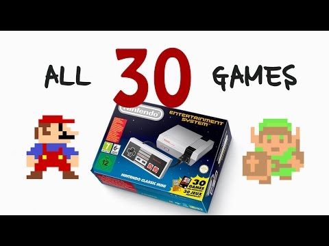 ALL 30 GAMES for Nintendo Classic