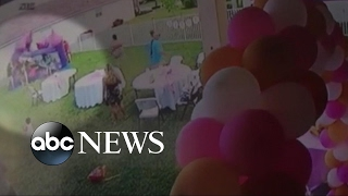 Man pulls plug on bounce house, deflating it with kids inside