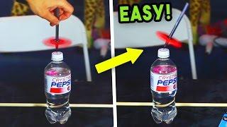 5 ULTIMATE FIDGET SPINNER TRICKS! (FLOATING PEN & BOTTLE TRICK)