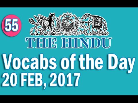 Xxx Mp4 The Hindu Vocabulary 20 FEB 2017 Learn 10 New Words With Tricks Day 55 3gp Sex