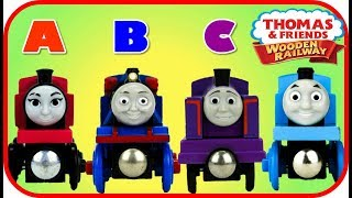 Learn ABC letters with Thomas and Friends Toy Trains, ABC Thomas Best Learning Video for Kids