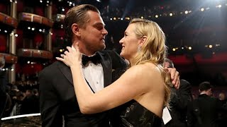 Kate Winslet Adorably Tears Up During Leonardo DiCaprio's Oscars Speech