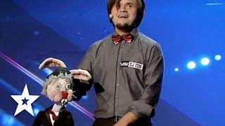 Puppet Performs Magic! | Auditions Week 1 | Românii au talent
