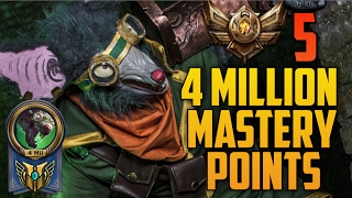 Bronze 5 TWITCH 4,000,000 MASTERY POINTS- Spectate Highest Mastery Points on Twitch