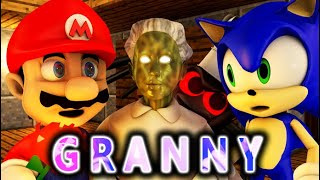 GRANNY VS SONIC THE HEDGEHOG & SUPER MARIO CHALLENGE! (official) Minecraft Horror Game Animation
