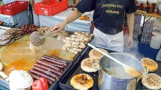 Bosnia Street Food. BIG Grill of Meat, Huge Soups, Sausages and  More