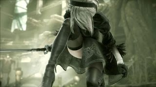 ( All scenes of Sexy Android 2B ) - NieR Automata DEMO [ PS4 ]