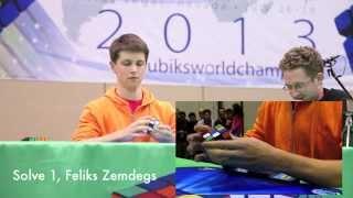 Mats Valk and Feliks Zemdegs: Top 2 Seeds, 3x3 Final Round, Rubik's Cube World Championship 2013